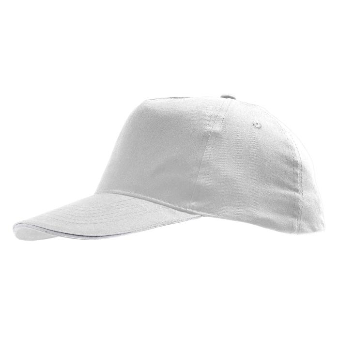 Бейсболка «Sunny» 5 клиньев, белый, 100% хлопок, 180г/м2