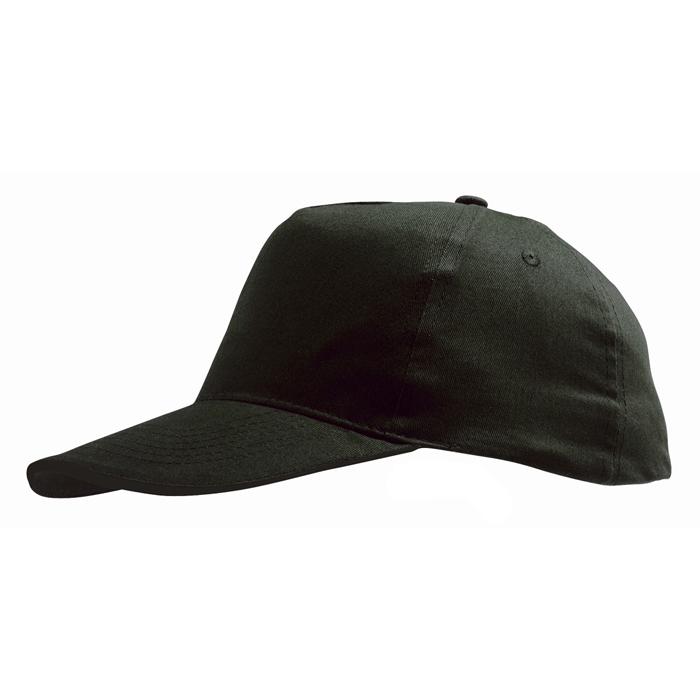 Бейсболка «Sunny» 5 клиньев, черный, 100% хлопок, 180г/м2