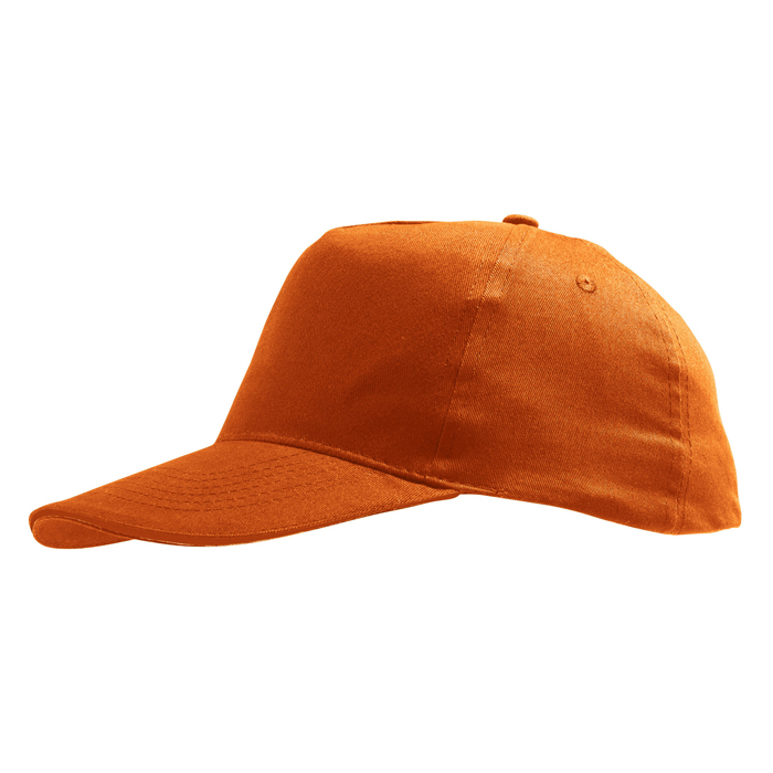 Бейсболка «Sunny» 5 клиньев, оранжевый, 100% хлопок, 180г/м2
