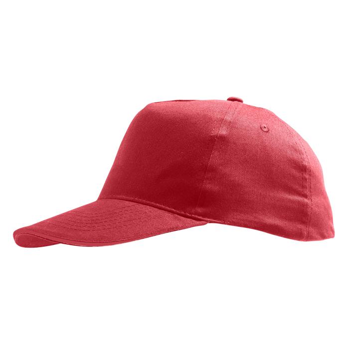 Бейсболка «Sunny» 5 клиньев, красный, 100% хлопок, 180г/м2