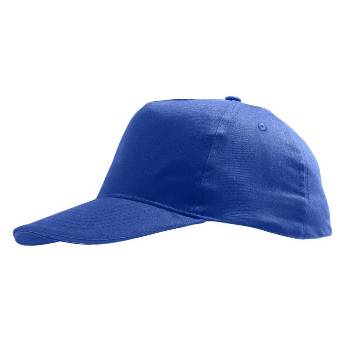 Бейсболка «Sunny» 5 клиньев, ярко-синий, 100% хлопок, 180г/м2