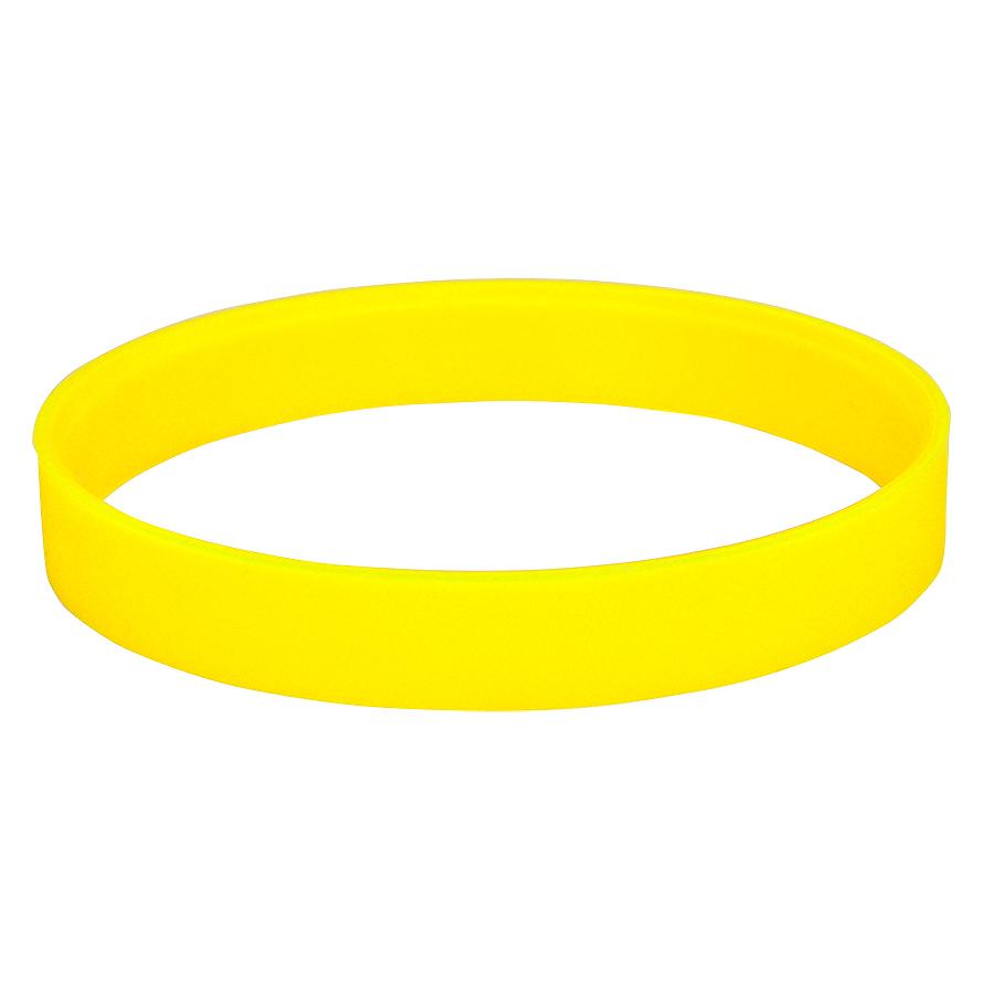 Браслет силиконовый «Фантазия-2»;  D6,5см;  желтый