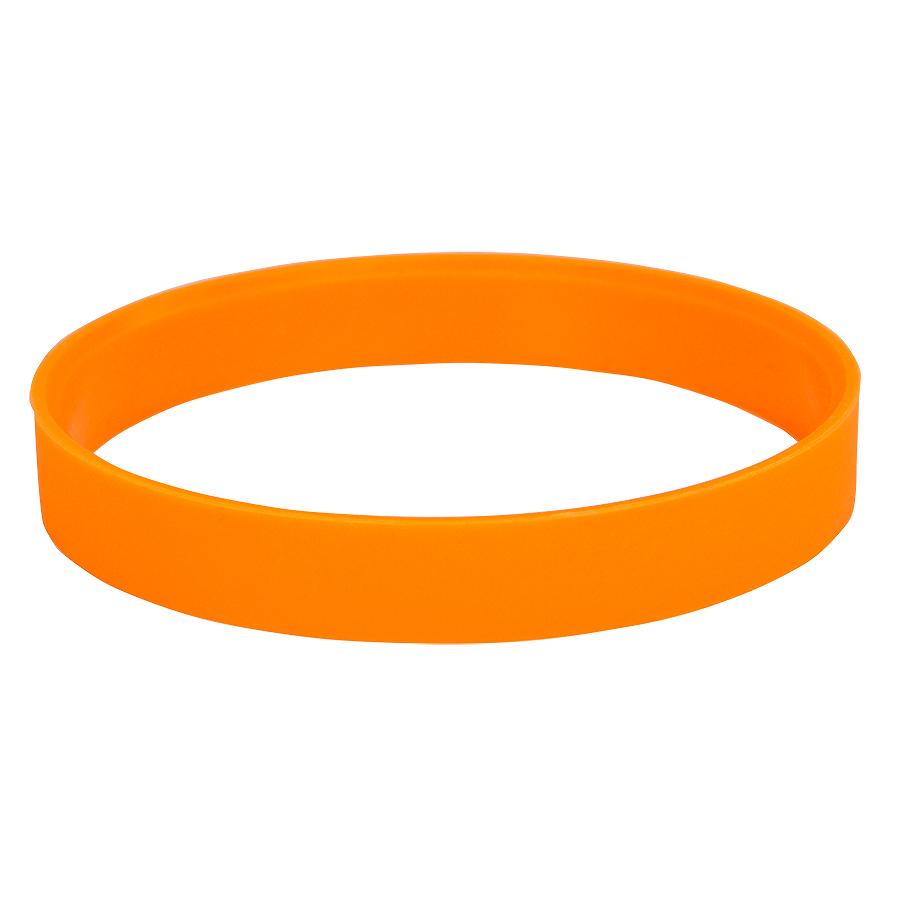 Браслет силиконовый «Фантазия-2»;  D6см, оранжевый