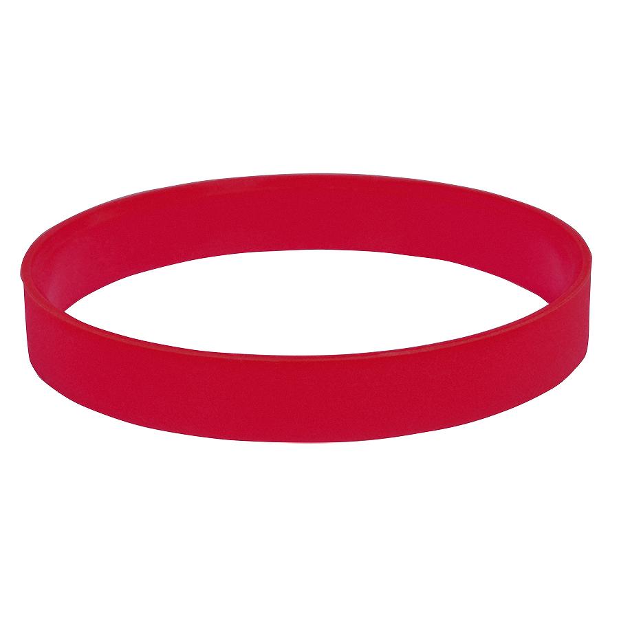 Браслет силиконовый «Фантазия-2»;  D6,5 см, красный