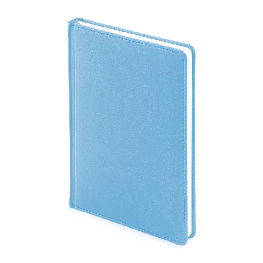 Фотография товара Ежедневник недатированный Velvet, А5, голубой, белый блок, без обреза