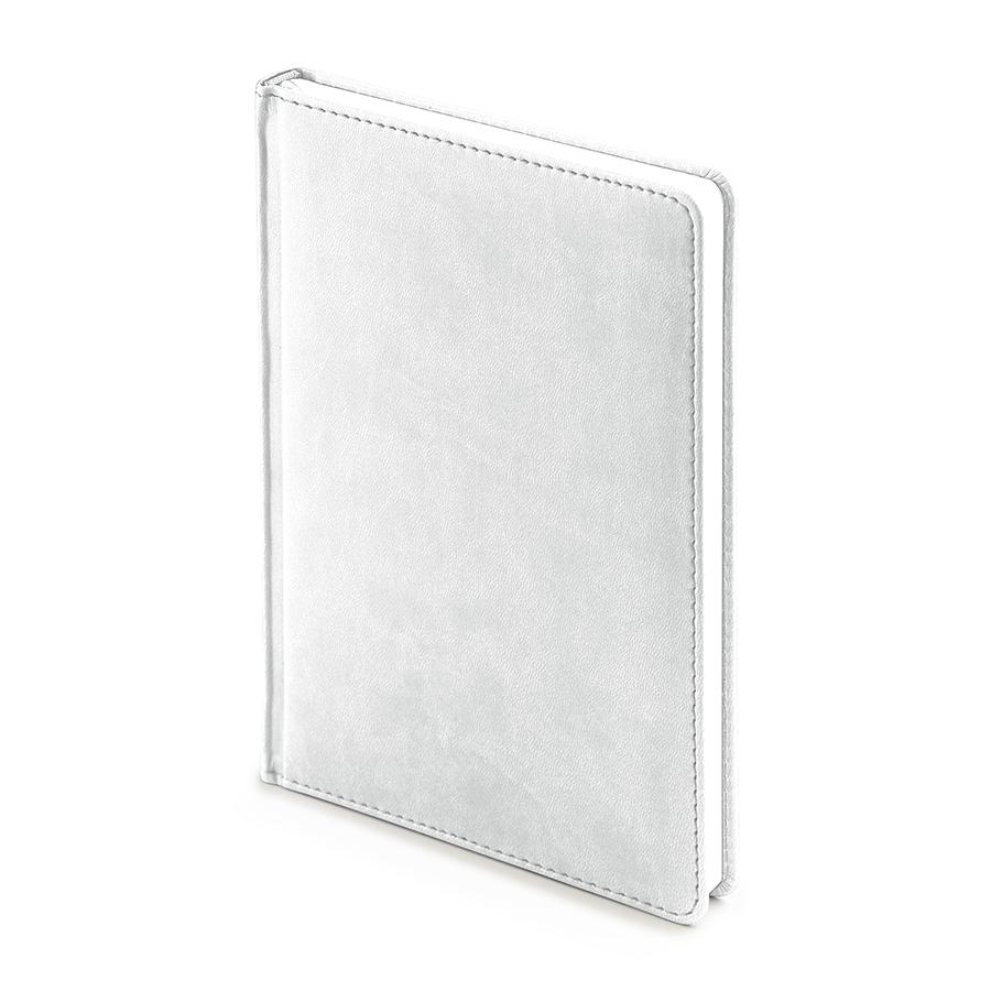 Ежедневник недатированный Velvet, А5, белый, белый блок, без обреза