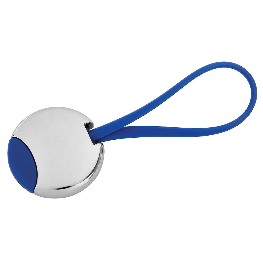 Брелок «Beat»; синий, 3,5×3,5×0,6 см; металл; лазерная гравировка