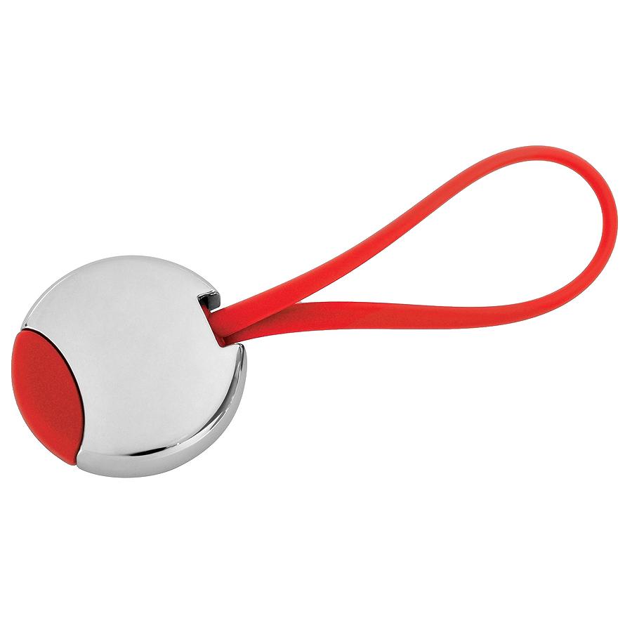 Брелок «Beat»; красный, 3,5×3,5×0,6 см; металл; лазерная гравировка