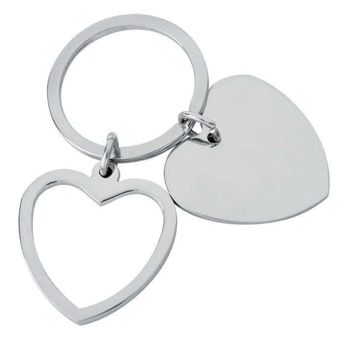 Фотография товара Брелок «Heart»; 3,5×3,5×0,2 см; металл; лазерная гравировка