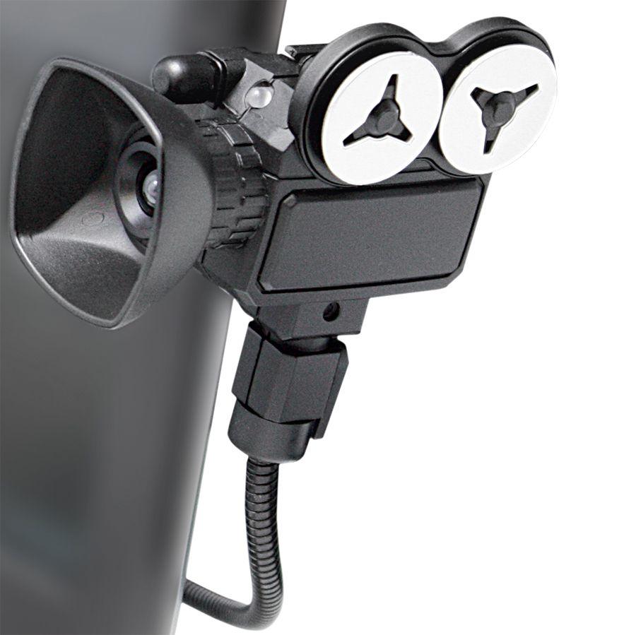 USB-веб-камера с микрофоном «Мотор!»; L=40, D=4,4 см; пластик; тампопечать