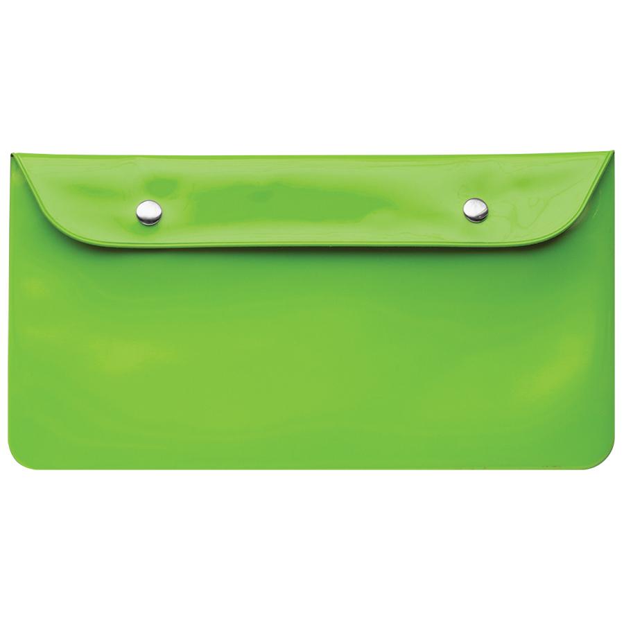 Бумажник дорожный «HAPPY TRAVEL», зеленый, 23.5*12.5 см, ПВХ, шелкография