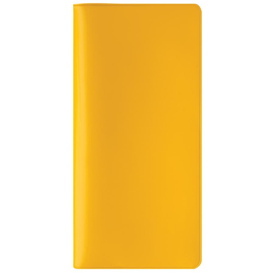 "Бумажник путешественника ""HAPPY TRAVEL"", желтый,  ПВХ, 10*22 см,  шелкография"