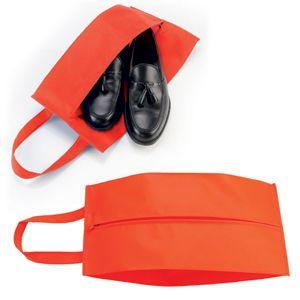 Футляр для обуви на молнии «HAPPY TRAVEL», красный, нетканка , 20*42*15 см, шелкография