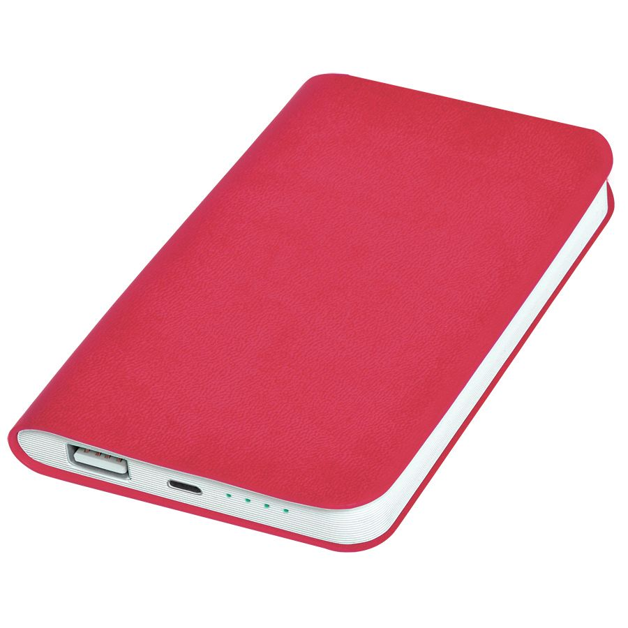 Универсальное зарядное устройство «Softi» (4000mAh),розовый, 7,5х12,1х1,1см, искусственная кожа,плас