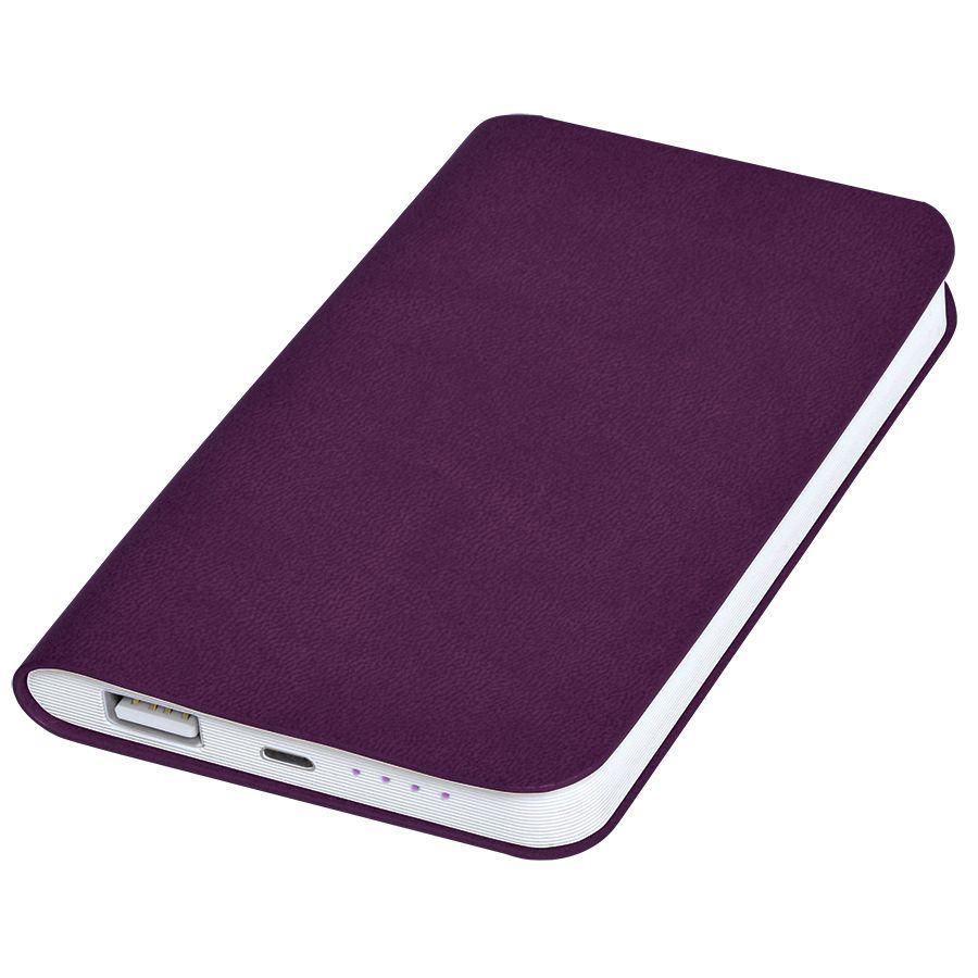 Фотография товара Универсальное зарядное устройство «Softi» (4000mAh),фиолетовый, 7,5х12,1х1,1см, искусственная кожа