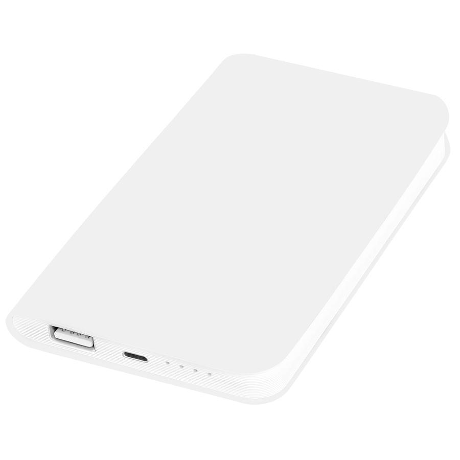Универсальное зарядное устройство «Softi» (4000mAh),белый, 7,5х12,1х1,1см, искусственная кожа,пласти