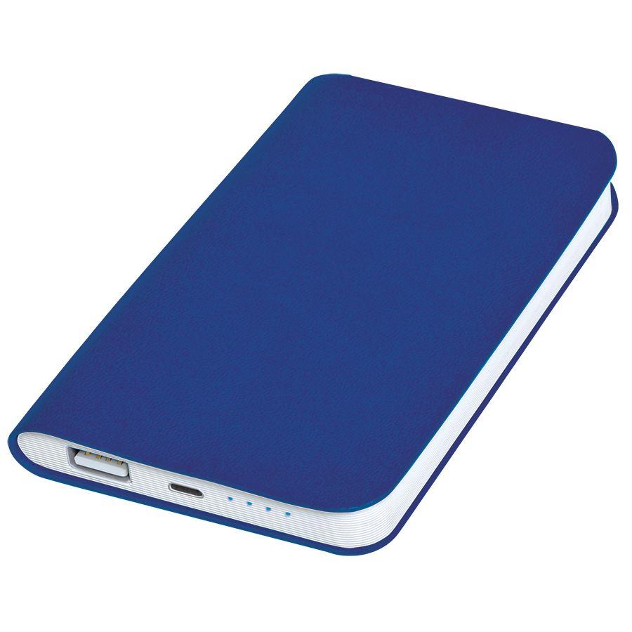 Универсальное зарядное устройство «Silki» (4000mAh),темно-синий, 7,5х12,1х1,1см, искусственная кожа,