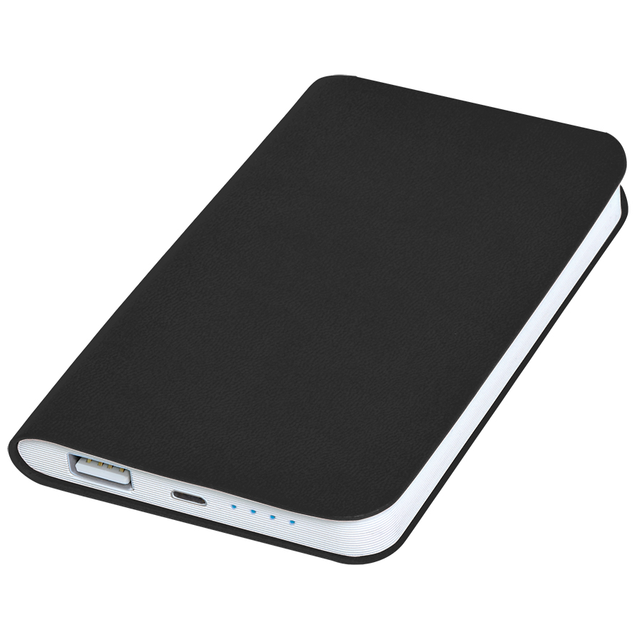 Универсальное зарядное устройство «Silki» (4000mAh),черный, 7,5х12,1х1,1см, искусственная кожа,пласт