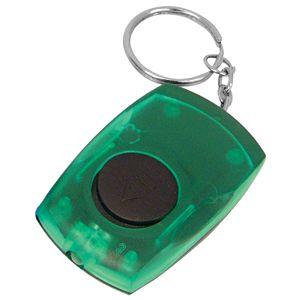 Фотография товара Брелок со светодиодом; зеленый; 5,5х3,5х1,4 см; пластик; тампопечать