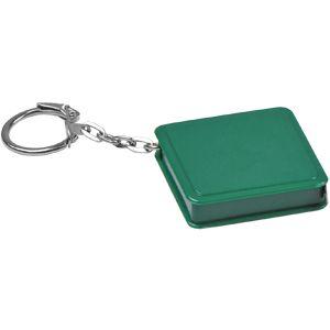 Фотография товара Брелок-рулетка (1 м); зеленый; 4х4х1 см; пластик; тампопечать