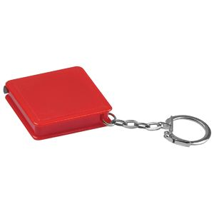Фотография товара Брелок-рулетка (1 м); красный; 4х4х1 см; пластик; тампопечать