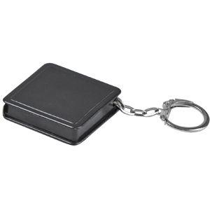 Фотография товара Брелок-рулетка (1 м); черный; 4х4х1 см; пластик; тампопечать
