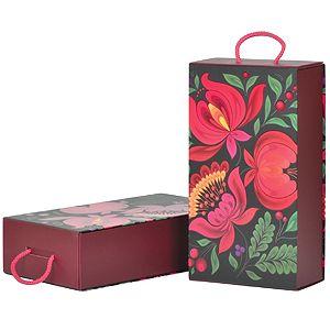 Коробка подарочная  «Калинка», складная,  31,5х18х8 см,  кашированный картон
