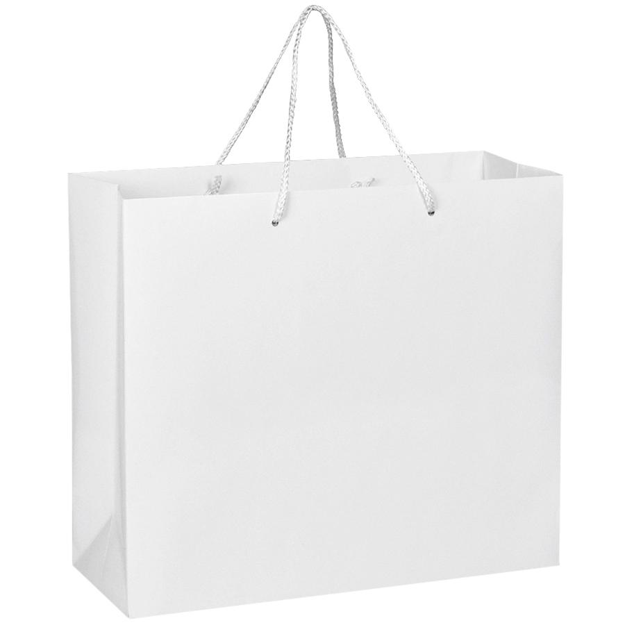 Фотография товара Пакет подарочный с ручками,  белый, 40*35*14 см,  бумага