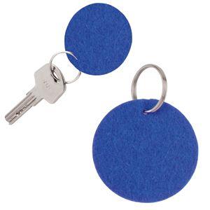 Брелок «Round felt», синий, 5,3х0,2см, фетр