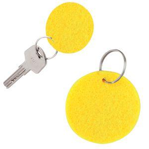 Брелок «Round felt», желтый, 5,3х0,2см, фетр