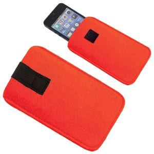 Футляр  для мобильного телефона «Felt», красный, 8,5х14х0,6см, фетр