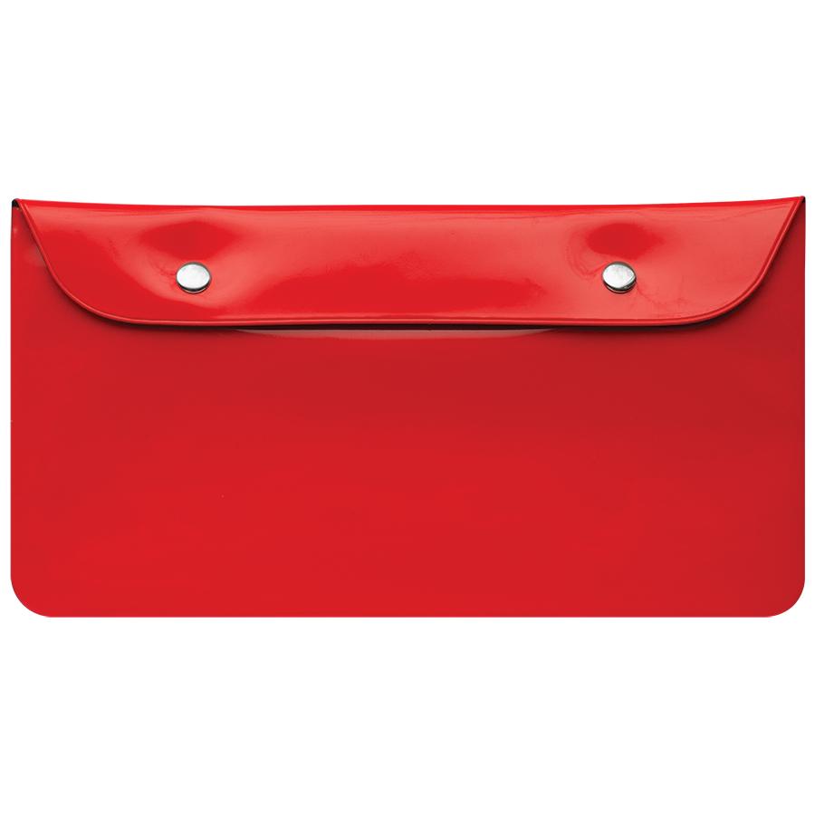 """Бумажник дорожный  """"HAPPY TRAVEL"""", красный, 23.5*12.5 см, ПВХ, шелкография"""