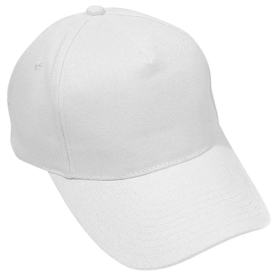 Бейсболка «Hit», 5 клиньев,  застежка на липучке; белый; 100% п/э; плотность 135 г/м2