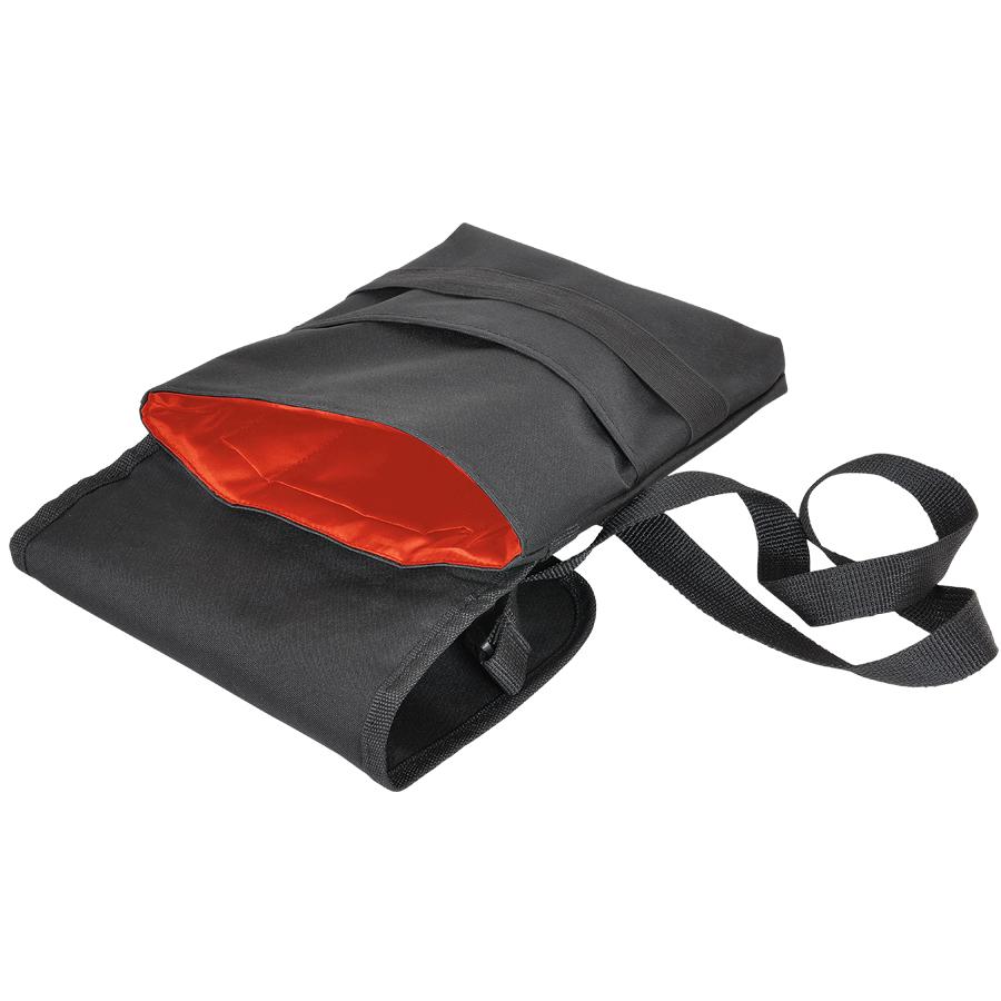 Cумка «CASUAL» ,  черный/красный, 21х27 см; полиэстер ; шелкография