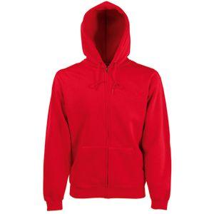 Толстовка «Zip Through Hooded Sweat», красный_M, 70% х/б, 30% п/э, 280 г/м2