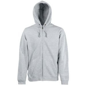 "Толстовка ""Zip Through Hooded Sweat"", серо-лиловый_L, 70% х/б, 30% п/э, 280 г/м2"