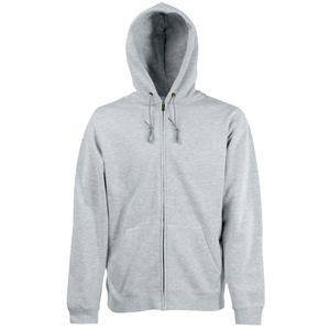 Толстовка «Zip Through Hooded Sweat», серо-лиловый_L, 70% х/б, 30% п/э, 280 г/м2
