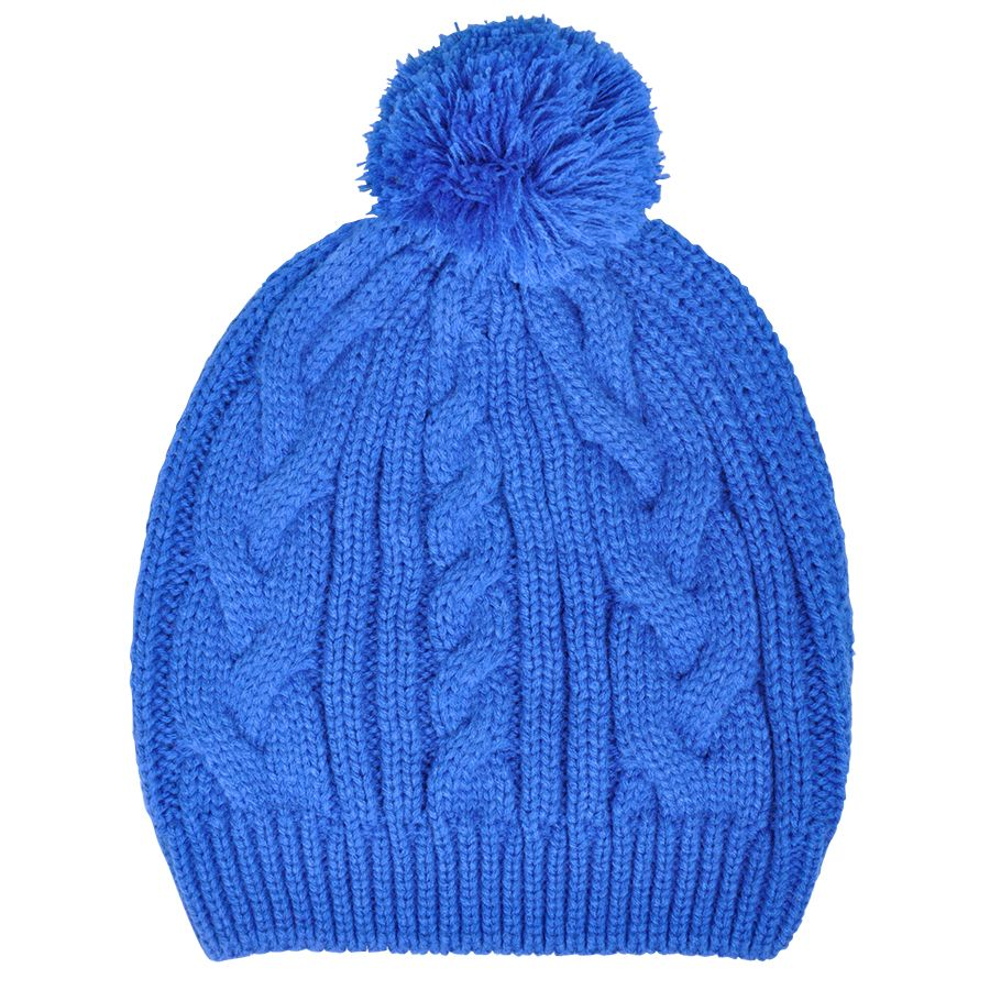 Фотография товара Шапка  «Irish» с помпоном,  темно-синий, М, акрил/хлопок  шеврон