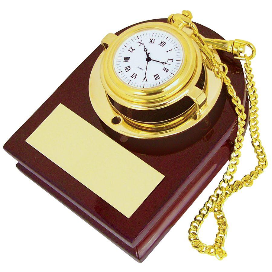 Часы карманные с подставкой; 13х10х7 см; дерево, металл; лазерная гравировка