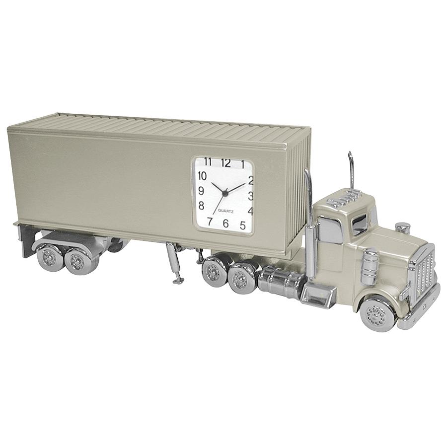 Часы «Трейлер»; 15х3,5х5,2 см; металл; лазерная гравировка