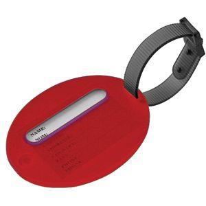 Фотография товара Бирка багажная; красный; 7,5х6х1 см; пластик; тампопечать