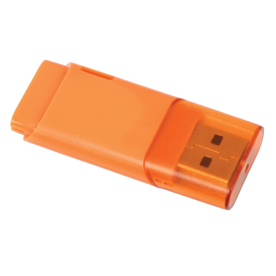 USB flash-карта «Osiel» (8Гб),оранжевый, 5,1х2,2х0,8см,пластик