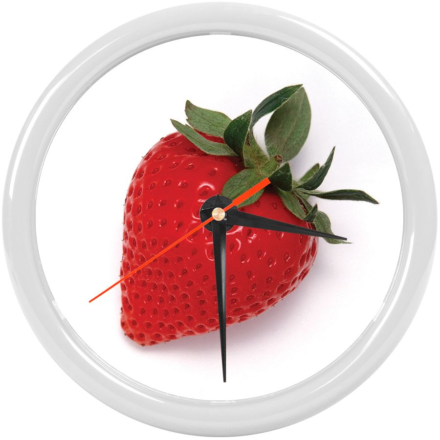 Часы настенные «PRINT» разборные ;  белый, D24,5 см; пластик