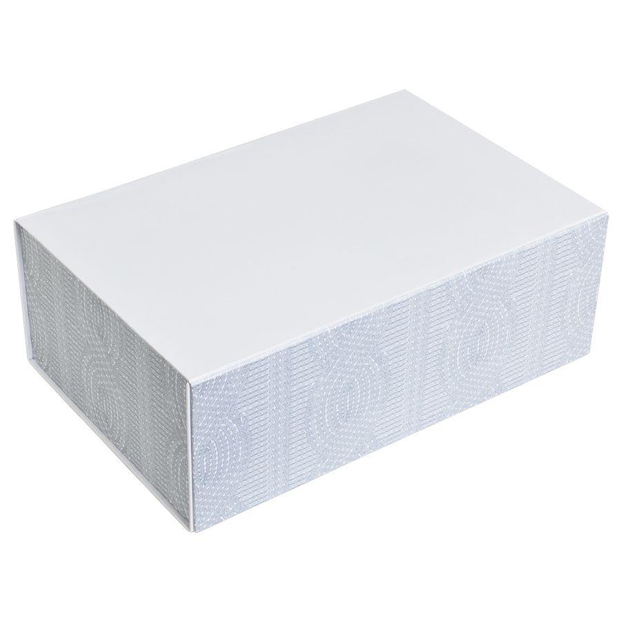 Фотография товара Коробка подарочная «Irish»  складная,  белый,  20*30*11  см,  кашированный картон, тиснение