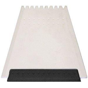 """Скребок автомобильный """"Трапеция"""" с цветным корпусом; белый с черным; 12х11 см; пластик; тампопечать,"""