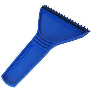 Скребок автомобильный; синий; 11х17,5 см; пластик; тампопечать, шелкография