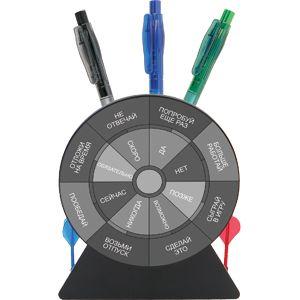 Подставка для авторучек-приниматель решений «Дартс»; 12,2х5,1х14 см; пластик; тампопечать