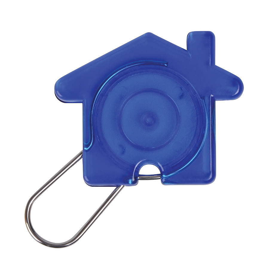 Брелок «Дом», синий, 5,8х4,7х0,9см, пластик, металл