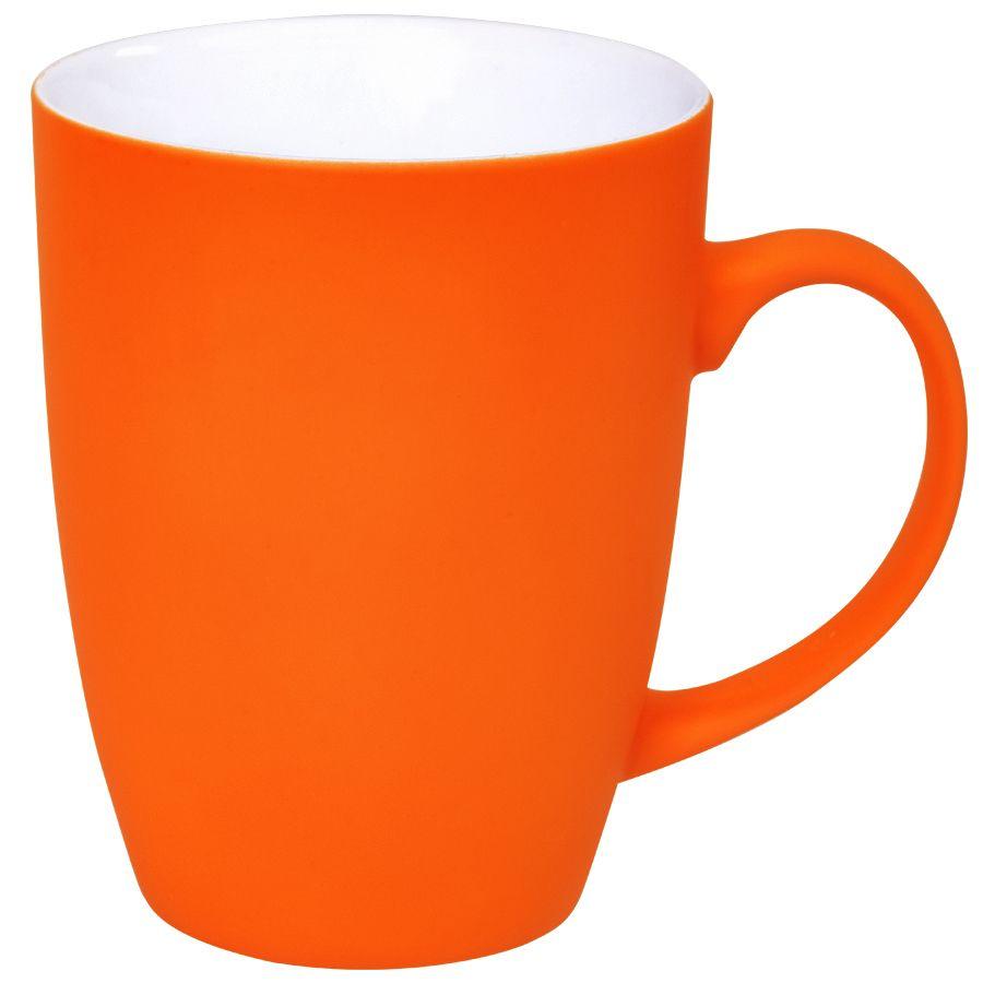 Кружка «Sweet» с прорезиненным покрытием, оранжевый, 350 мл, фарфор