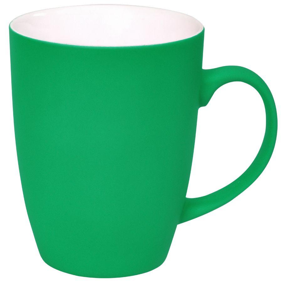 Кружка «Sweet» с прорезиненным покрытием, зеленый, 350 мл, фарфор